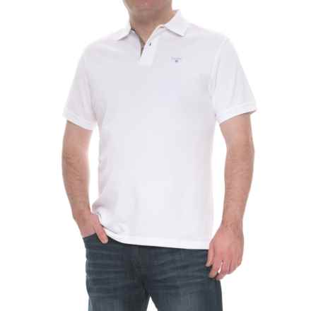 Barbour Tartan Cotton Pique Polo Shirt - Short Sleeve (For Men) in White - Closeouts