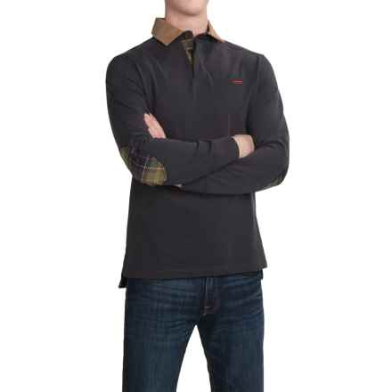 Barbour Tartan Rugby Shirt - Long Sleeve (For Men) in Dark Navy - Closeouts