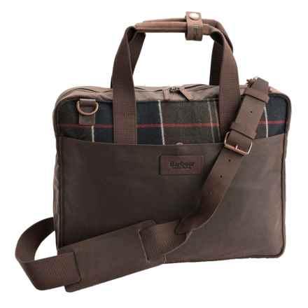 Barbour Tartan Slim Laptop Bag in Classic Tartan - Closeouts