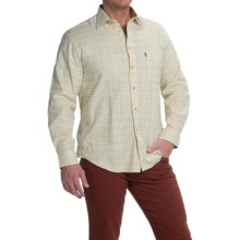 Barbour Tattersall Shirt - Long Sleeve (For Men) in Gold/Blue Plaid, Field Tattersall - Closeouts