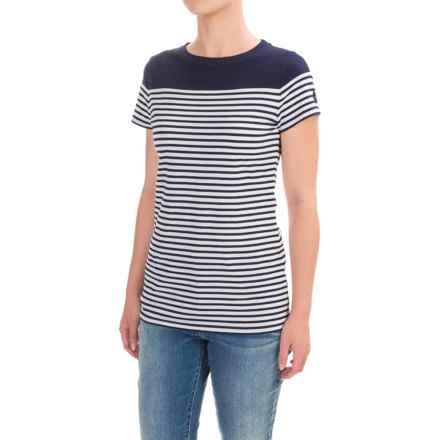 Barbour Teesport Striped Shirt - Short Sleeve (For Women) in Navy, Teesport - Closeouts