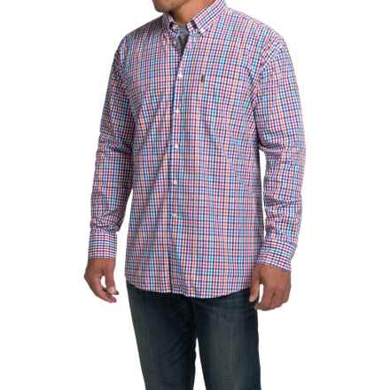 Barbour Terence Shirt - Regular Fit, Long Sleeve (For Men) in Red - Closeouts