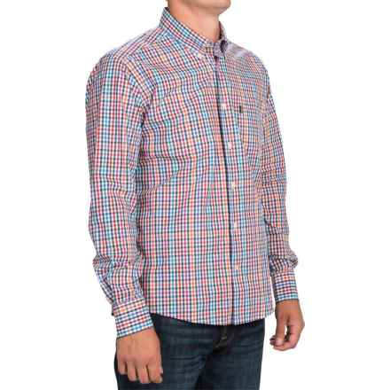 Barbour Terence Tattersall Shirt - Slim Fit, Long Sleeve (For Men) in Red Check - Closeouts