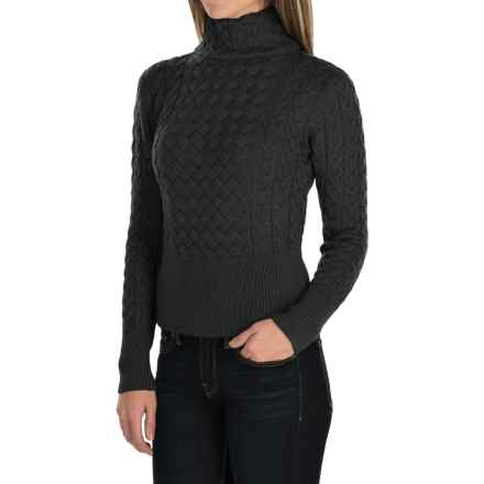 Barbour Terrain Turtleneck Sweater - Lambswool (For Women) in Black - Closeouts