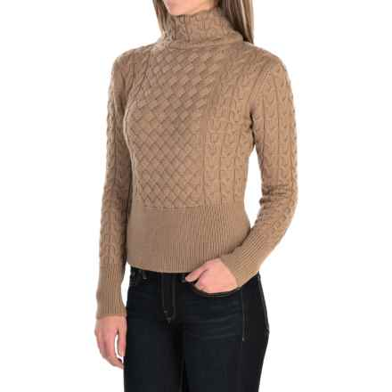 Barbour Terrain Turtleneck Sweater - Lambswool (For Women) in Camel - Closeouts
