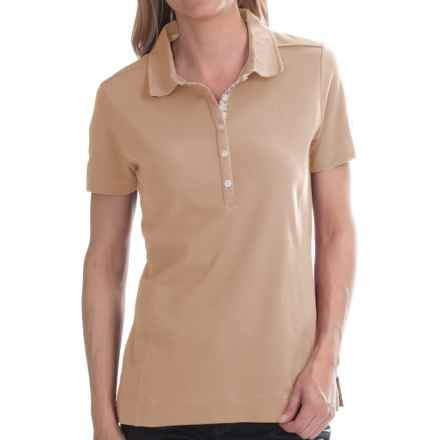 Barbour Thread Polo Shirt - Short Sleeve (For Women) in Dark Pearl - Closeouts