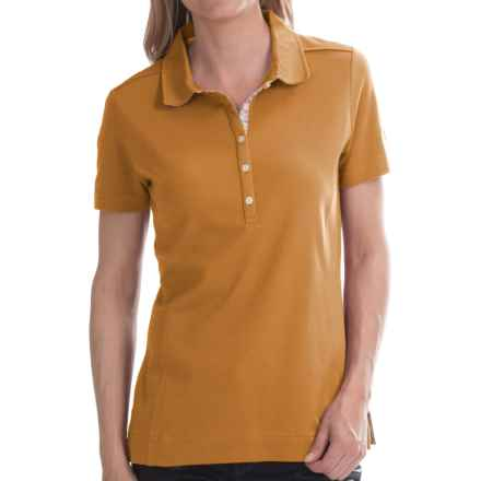 Barbour Thread Polo Shirt - Short Sleeve (For Women) in Palomino - Closeouts
