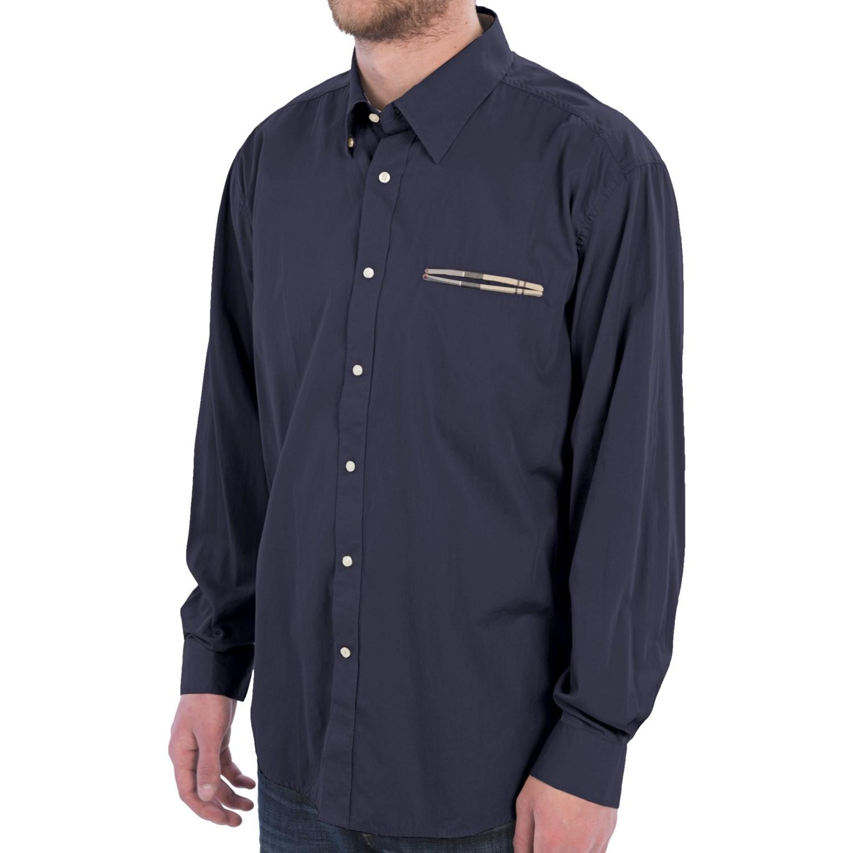 Barbour torridon shirt hidden button down collar long for Hidden button down collar shirts