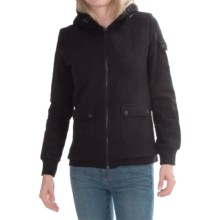 Barbour Tracks Sweatshirt Hoodie - Sherpa Lined (For Women) in Black - Closeouts