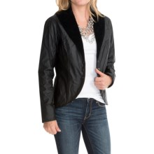 Barbour Travers Waxed-Cotton Blazer - Velvet Trim (For Women) in Black/Equestrian - Closeouts