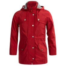 Barbour Trevose Waxed-Cotton Jacket (For Girls) in Red - Closeouts