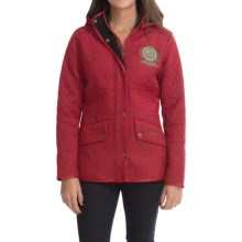 Barbour Trial Cavalry Quilted Jacket (For Women) in Chilli Red - Closeouts
