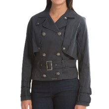 Barbour Trophy Double-Breasted Jacket (For Women) in Navy - Closeouts
