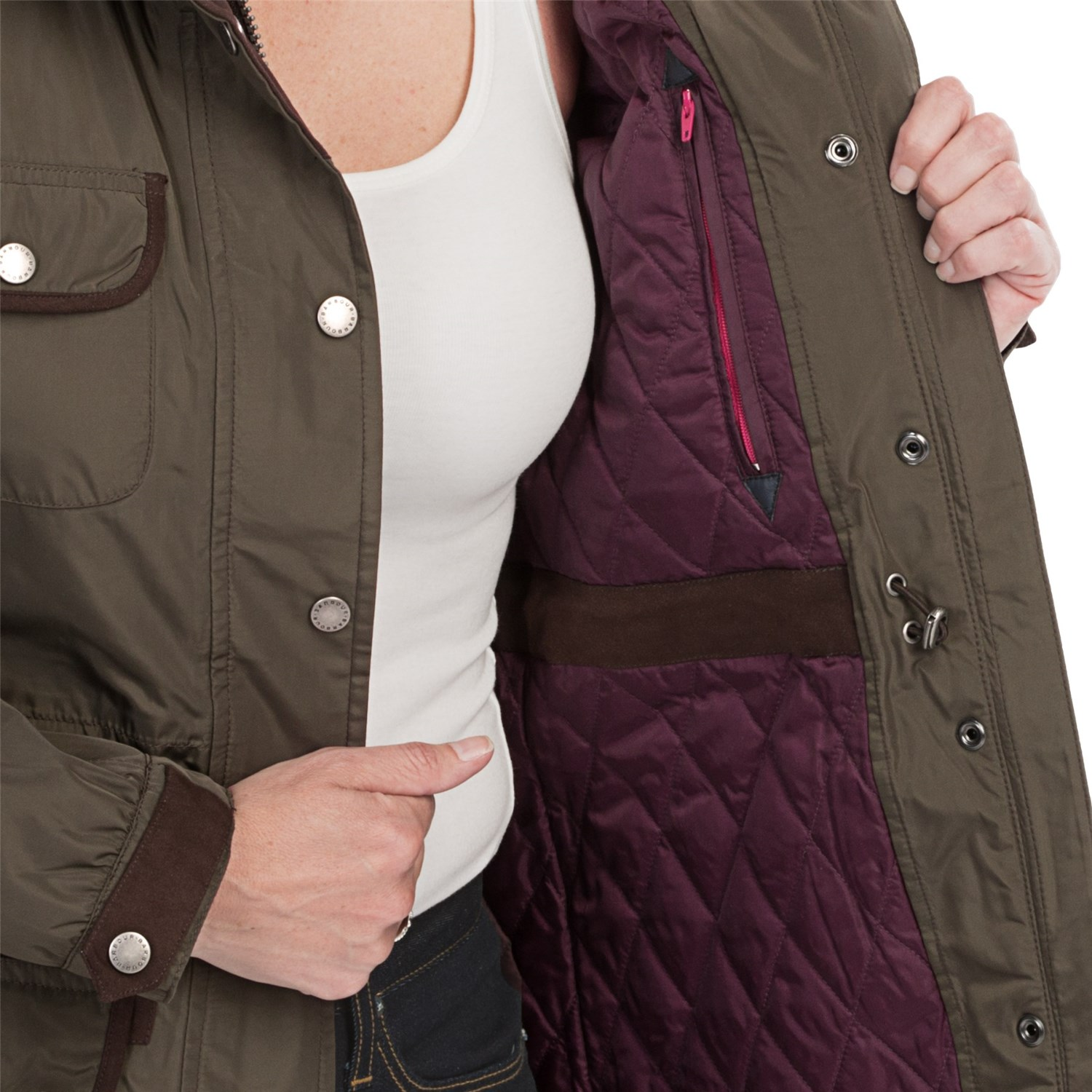 8686J_2 Barbour Turbine Water-Resistant Jacket - Insulated (For Women
