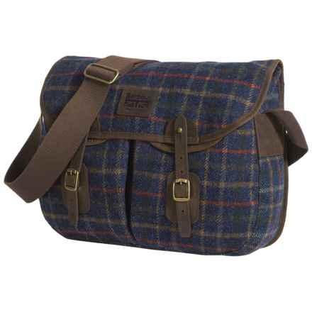 Barbour Tweed Wool Tarras Messenger Bag in Navy - Closeouts