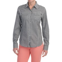 Barbour Two-Pocket Cotton Shirt - Button Front, Long Sleeve (For Women) in Black Gingham Check, Axis - Closeouts