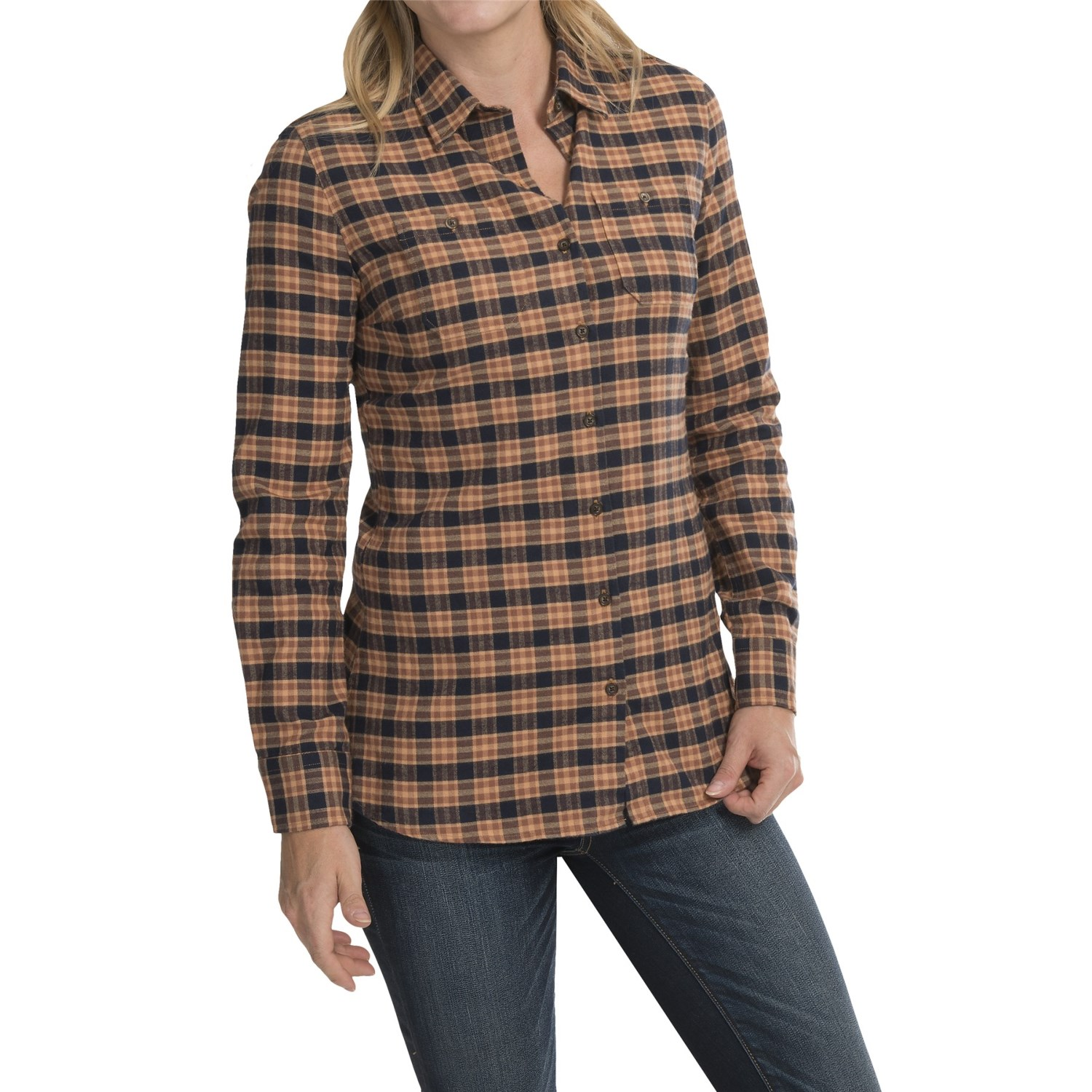 Barbour two pocket cotton shirt for women save 61 for Ladies brown check shirt