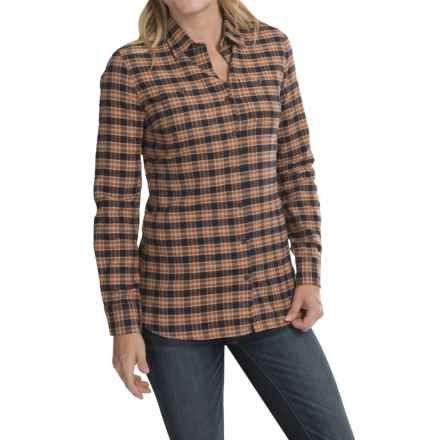 Barbour Two-Pocket Cotton Shirt - Button Front, Long Sleeve (For Women) in Brown Check, Swinhoe - Closeouts