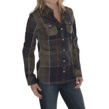 Barbour Two-Pocket Cotton Shirt - Button Front, Long Sleeve (For Women) in Classic Tartan Plaid, Cindall, Slim Fit - Closeouts