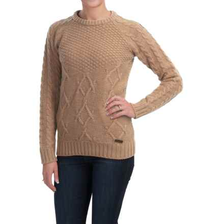 Barbour Ursula Lambswool Sweater - Crew Neck (For Women) in Camel - Closeouts