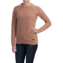 Barbour Ursula Lambswool Sweater - Crew Neck (For Women) in Nude - Closeouts
