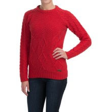 Barbour Ursula Lambswool Sweater - Crew Neck (For Women) in Red - Closeouts