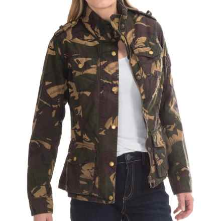 Barbour Valiant Jacket - Waxed Cotton in Green Camo - Closeouts