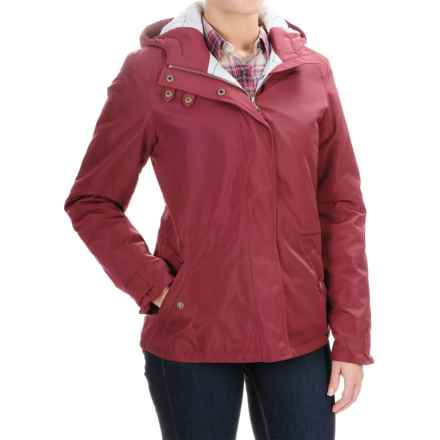 Barbour Vaulting Jacket - Waterproof, Insulated (For Women) in Cherry - Closeouts