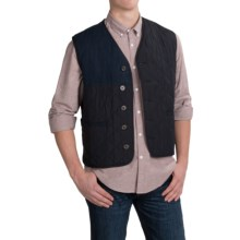 Barbour Waistcoat Vest (For Men) in Navy, Tailored - Closeouts