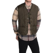 Barbour Waistcoat Vest (For Men) in Olive, Tailored - Closeouts