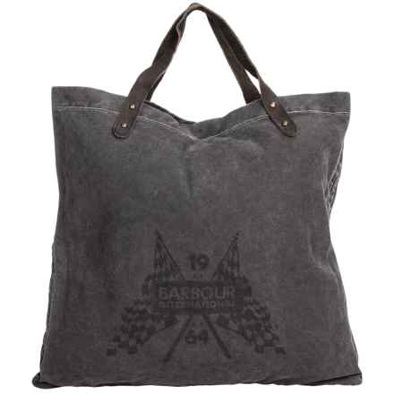Barbour Washed Canvas Shoulder Bag in Black - Closeouts