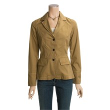 Barbour Washed Peplum Blazer (For Women) in Sandstone - Closeouts