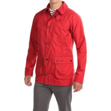 Barbour Washed Slim Bedale Jacket - Cotton (For Men) in Red - Closeouts