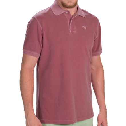 Barbour Washed Sports Polo Shirt - Short Sleeve (For Men) in Biking Red - Closeouts