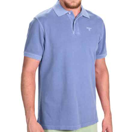Barbour Washed Sports Polo Shirt - Short Sleeve (For Men) in Sky - Closeouts