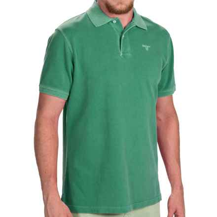 Barbour Washed Sports Polo Shirt - Short Sleeve (For Men) in Turf - Closeouts