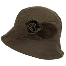 Barbour Waxed-Cotton Bucket Hat (For Women) in Olive, Valerie - Closeouts