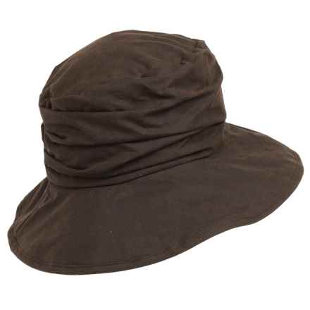 Barbour Waxed-Cotton Hat (For Women) in Rustic - Closeouts