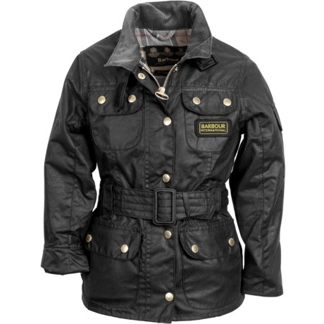 Barbour Waxed-Cotton Jacket (For Girls)