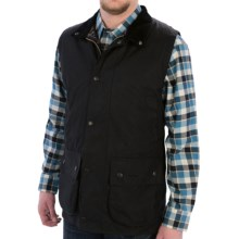 Barbour Westmorland Vest - Sylkoil Waxed Cotton (For Men) in Black - Closeouts