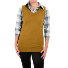 Barbour Wharfedale Wool-Silk-Cashmere Sweater - Sleeveless (For Women) in Gold - Closeouts