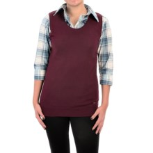 Barbour Wharfedale Wool-Silk-Cashmere Sweater - Sleeveless (For Women) in Merlot - Closeouts