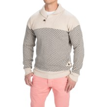 Barbour Windale Wool Sweater - Shawl Collar (For Men) in Pearl - Closeouts