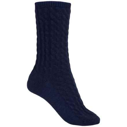 Barbour Wool-Blend Socks - Crew (For Women) in Navy, Ursula - Closeouts