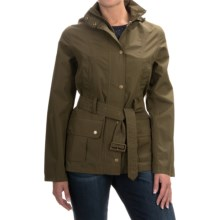 Barbour Wytherstone Belted Jacket - Waterproof (For Women) in Olive - Closeouts