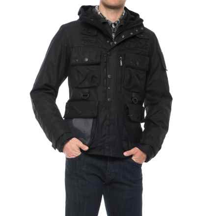 Barbour X adidas Baradi Jacket - Waxed Cotton (For Men) in Black - Closeouts
