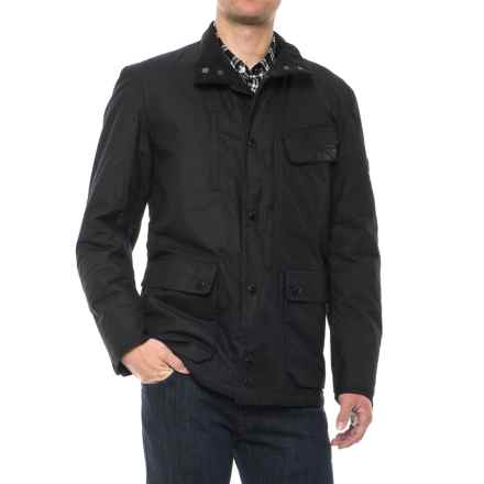Barbour X Land Rover Tipalt Jacket - Waxed Cotton (For Men) in Black - Closeouts