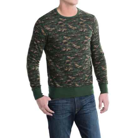 Barbour X White Mountaineering Blenyama Sweater - Crew Neck (For Men) in Olive Camo - Closeouts
