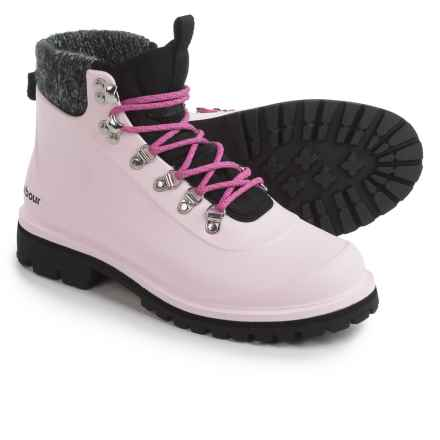 Barbour Zed Hiker Boots - Waterproof (For Women) in Pink - Closeouts