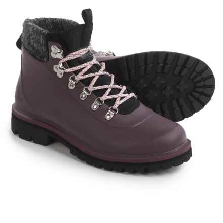 Barbour Zed Hiker Boots - Waterproof (For Women) in Red Wine - Closeouts